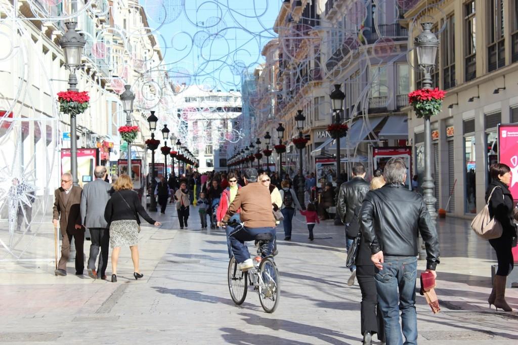 La calle Larios se peatonalizó hace una década.