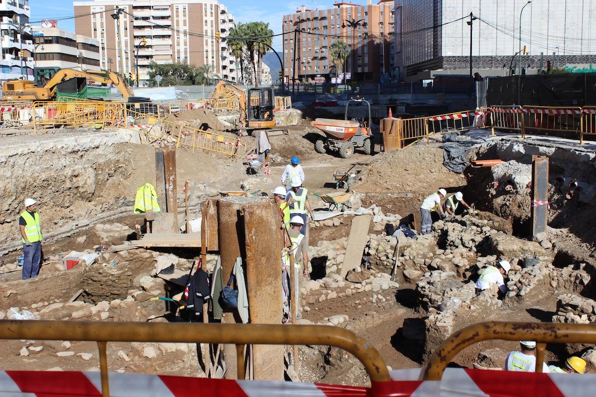 Las obras en el tramo Renfe-Guadalmedina. / TM