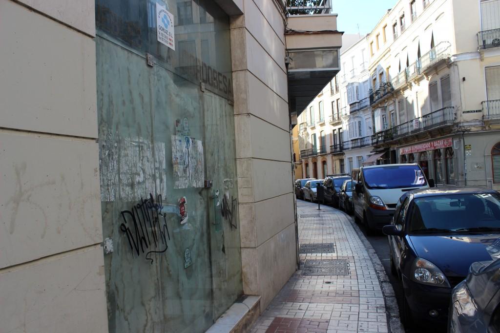 Hasta 360 locales vacíos en la zona del centro histórico y el futuro Soho Málaga. / T.M.