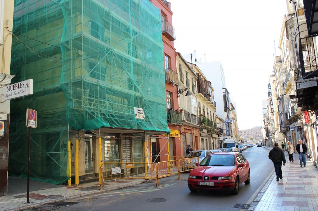 Calle Carretería, una de las más castigadas. / T.M.