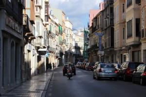 Entrada de la céntrica calle Carretería. / T.M.