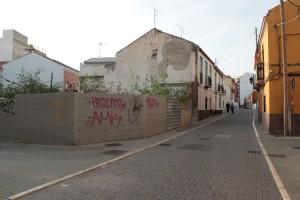 La confluencia de calle Carril con Plaza Montes. / T.M.