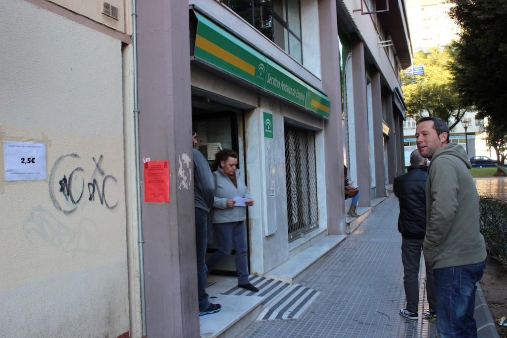 La Oficina del Servicio Andaluz de Empleo de Avenida de Andalucía. / T.M.