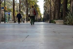 El pavimento deslizante del Paseo del Parque. / T.M.