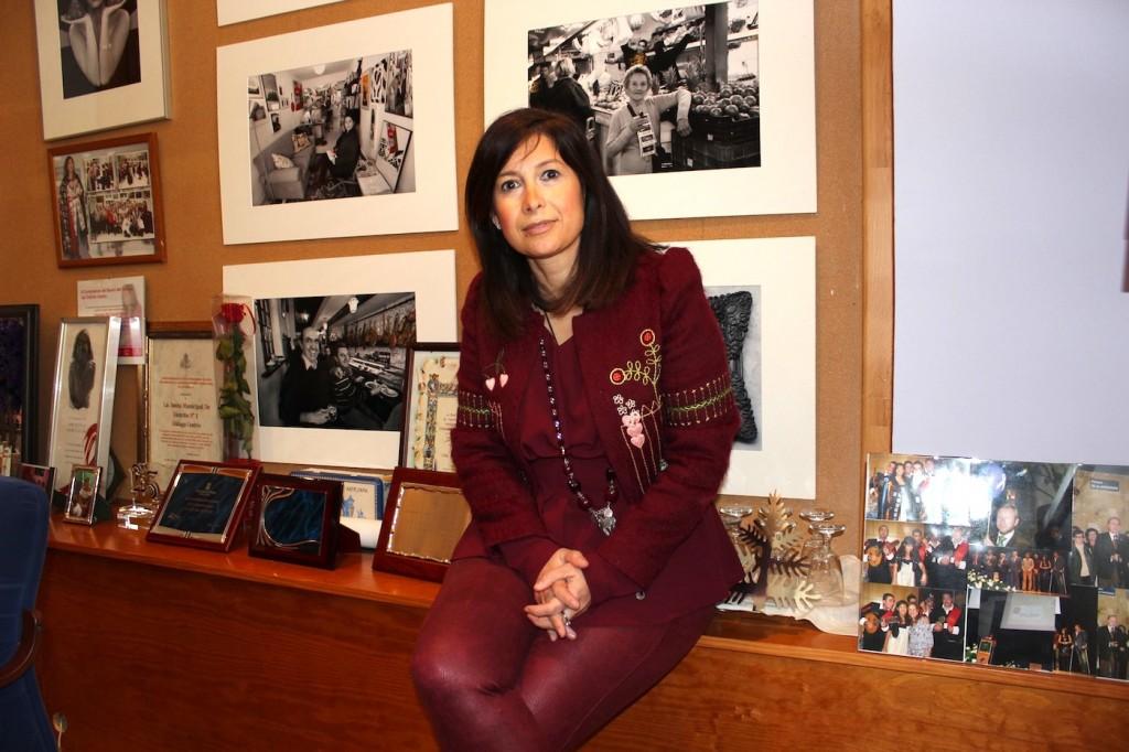 La concejal de Distrito Centro, Gemma del Corral, en su despacho en la calle de La Merced. / T.M.
