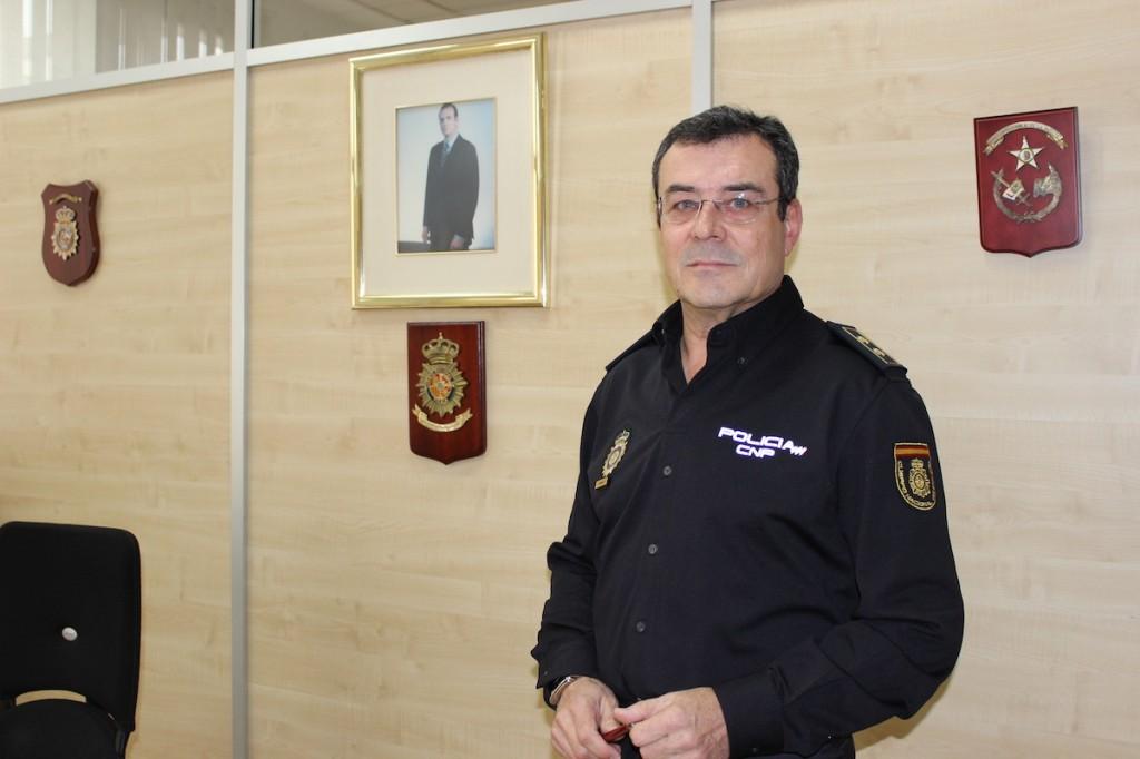 José Antonio Martínez, comisario del distrito centro. / T.M.