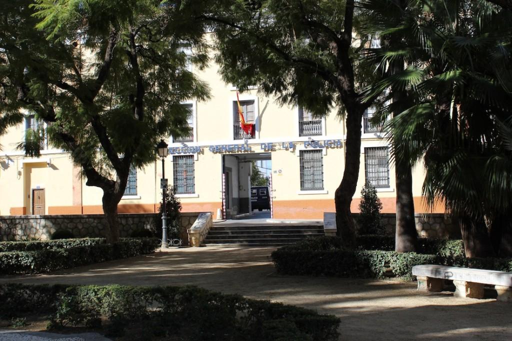 Las instalaciones en Pl. de Capuchinos, ocupadas por varios servicios de la Policía Nacional.
