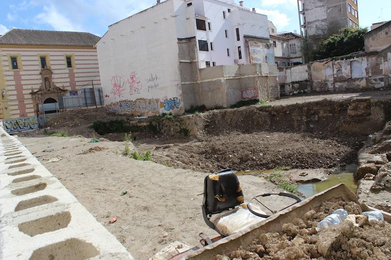 Solar de calle Nosquera donde se se han finalizado los trabajos arqueológicos. / T.M.