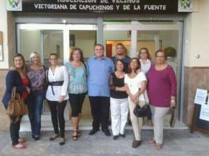 La junta directiva de la Asociación, con José Ocón a la cabeza.