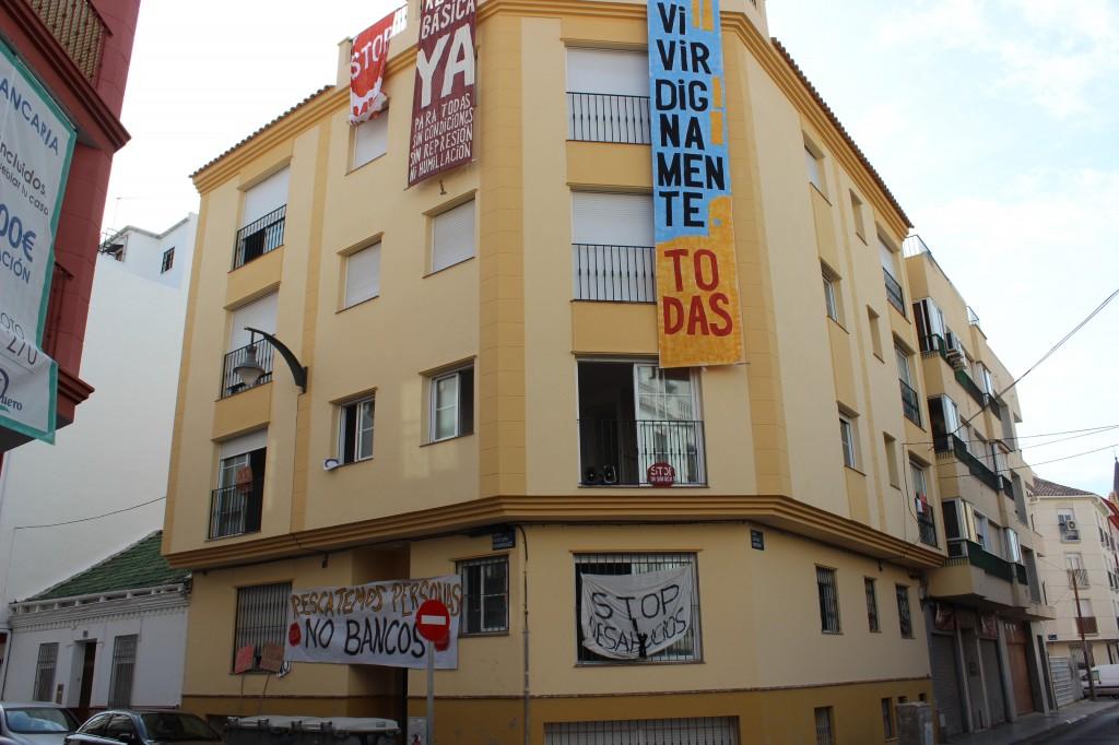 Edificio ocupado en calle Ventura Rodríguez, del barrio de La Trinidad. / T.M.