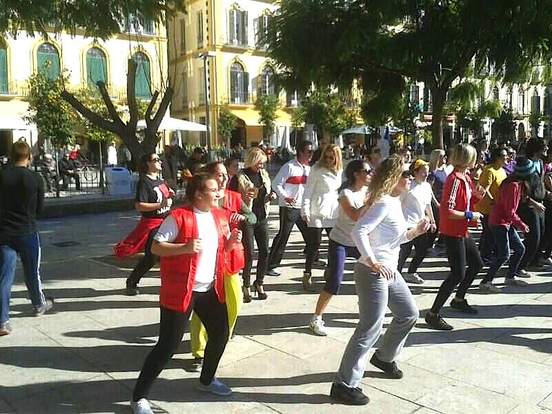 El área de Juventud del colectivo colaboró con el maratón de Zumba de Cruz Roja.